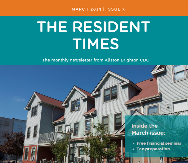 March Resident Newsletter