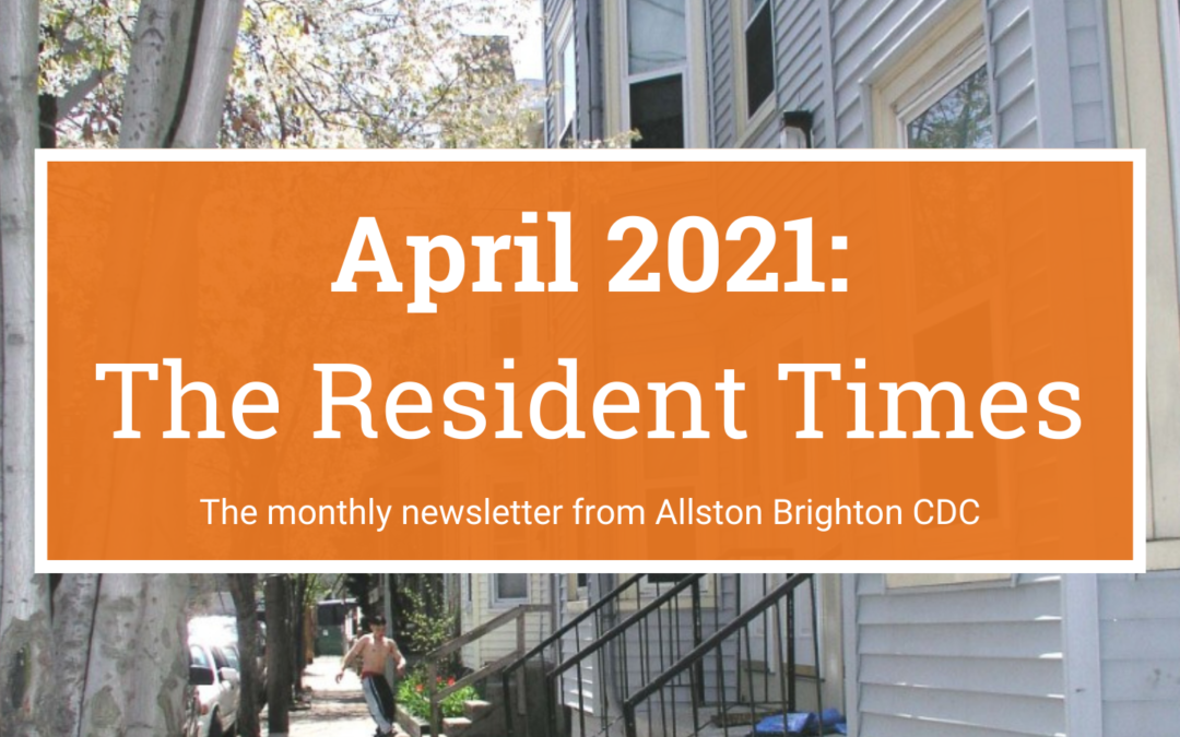 April 2021 Resident Newsletter